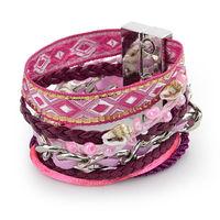 Colorful Bohemian Style Beach Bracelet & Bangle French style 100% Handmade Weave Magnetic Clip Brazilian Bracelets LX5B015
