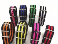 1PCS High quality 22MM Nylon Watch band NATO waterproof watch strap fashion wach band - 26 color available
