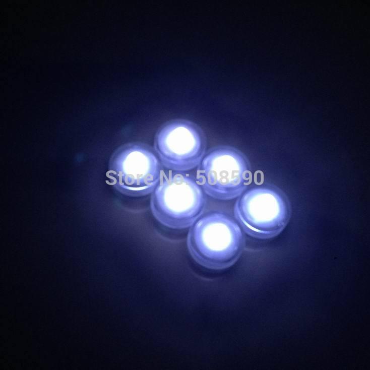 480pcs/Lot white Waterproof LED Candle Wedding Decoration Submersible Floralyte LED Tea Lights Party Decoration LED Floral Light(China (Mainland))