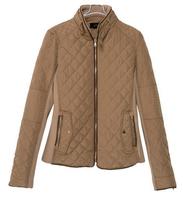Womens Jackets And Coats Quilted Stitching Slim Shrug Cotton Coat Jacket Khaki Long Sleeve Bomber Jacket Fall Winter New Fashion