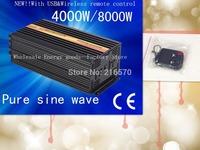 Best quality!! 4000W Pure sine wave inverter with USB&Wireless remote control (CTP-4000W)