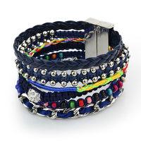 Brazilian Bracelets Colorful Bohemian Style French hot sale 100% Handmade Weave Magnetic Clip Beach Bracelet & Bangle LX5B017