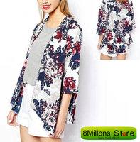 Bohemian dress chiffon floral kimono coats blouse shirt  SDR# 15