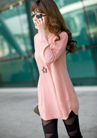 9524 winter new Korean Women wholesale solid color loose big yards bottoming sweater round neck sweater