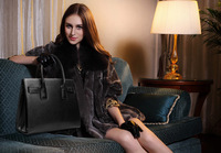 Upscale New Style Really Leather Business Women's Handbags Simple Lady Large Capacity