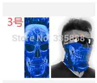 2014 New Fashion 1Pcs/Lot Skull Design Multi Function Bandana Ski Sport Motorcycle Biker Scarf Face Mask Free shipping