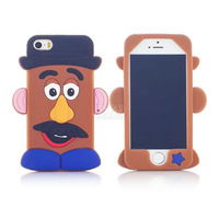 2014 New Fashional Funny Soft Silicone Phone Cover Case For apple iphone 5 5S 5C PT1343