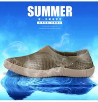 Summer male skateboarding shoes network  breathable shoes lighten-end pedal shoes lazy elevator shoes sandals hole