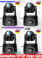 4pcs/lot 15W Mini Led Moving Head Light RGB Color Led Stage Effect Light DMX512 13 Channels 90V-240V Led Party Light Gobo Light