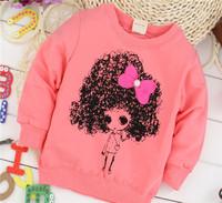 baby girls lovey cute comfortable cotton baby children sweatshirts hoodies KT211R