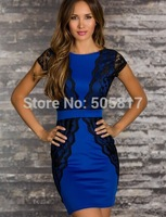 plus XL SIZE Fashion Sexy Lady Strapless Casual bodycon brand cute lace Dress New Night Clubwear Costume White Blue Red