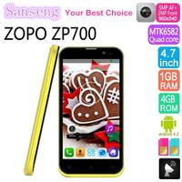 "Original Cheap ZOPO ZP700 4.7"" MTK6582 Quad Core1.3GHz Mobile Phone QHD 960*540 1GB RAM 4GB ROM Android 4.2 GPS Phone VS ZP810"
