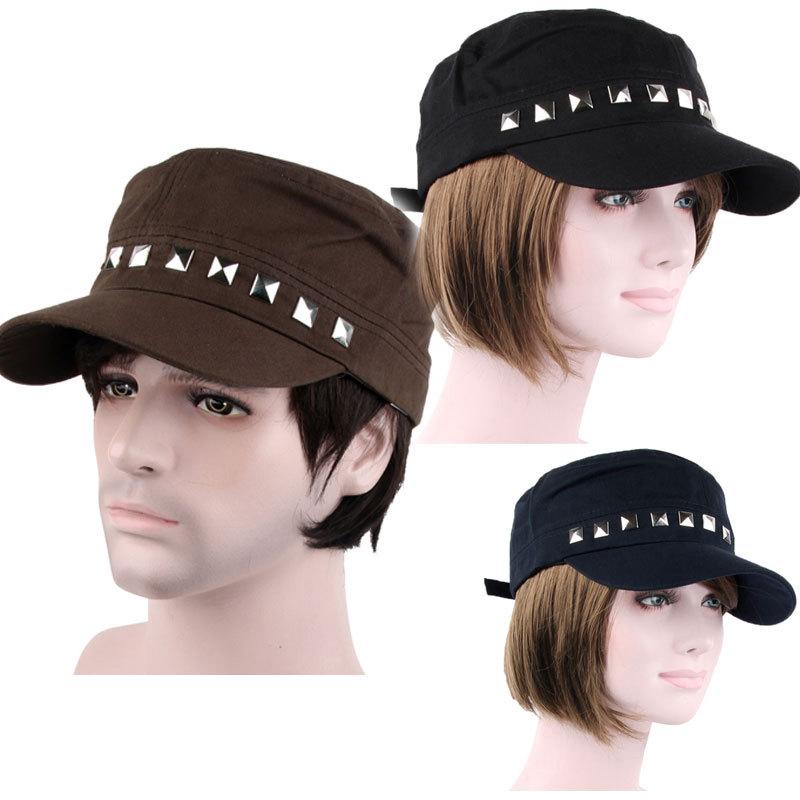 Casual Cotton Unisex Rivet Visor Baseball Football Hat Cap Clear Sun Visor Adjust(China (Mainland))