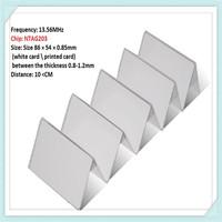 1000pcs/lot passive pvc blank rfid ntag203 chip card by DHL