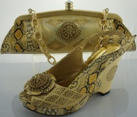 African Fashion Shoes and Matching Bags set for women, with plenty glass and Italy Shoes and Bags