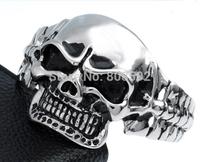 Cool Knight punk rock skull bracelet
