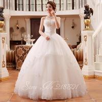 The new 2014 wedding dress Korean Bra Qi was thin white princess diamond grade spring and summer