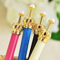 5pcs/lot Elegant Crown Ballpoint Pen Creative Stationery Cute Alloy Ball Pen School Office Gifts Wholesale