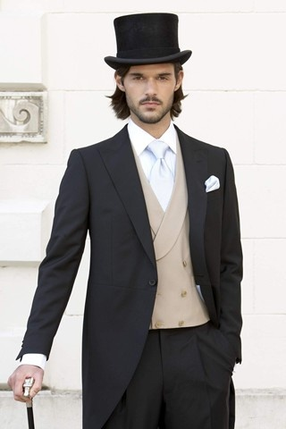 2014 Men's Formal Wear Black Peak Lapel Tuxedo/Wedding Suits For Men 3