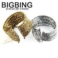 BigBing  jewelry Fashion Gold beads cuff Bangle fashion jewelry nickel free Free shipping B476