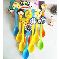 Korean children's quality melamine small spoons cartoon child ice cream tea mini spoon kids baby products tableware crafts