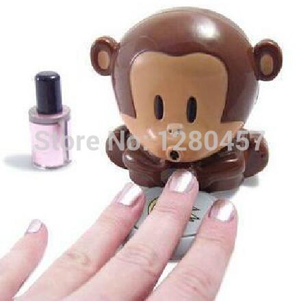 The Little Monkey Nail Dryer Nail Tools Blowing the Monkey Nail Creative Utility Drier Nail Polish Free Shipping(China (Mainland))