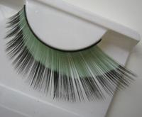Color longer encrypted eye end extended green eye end black color double color false eyelash Ballet Latin  ymjm--158