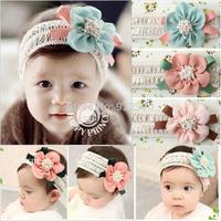 Toddler Newborn Baby Girls Toddler Elastic Headbands Flower Hairband hair accessory photo props free shipping