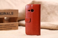 Wallet leather case Stand Cover for HTC One mini 2 M8 mini Mobile Phone Case