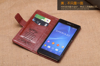 Wallet leather case Stand Cover for Sony Xperia Z2 L50u L50t L50w Mobile phone Case