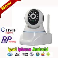 Free shipping mini IP camera H.264 wifi Network p2p plug 1.0 Megapixel 720P HD With 32G TF Card