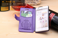Wallet leather case Stand Cover for HuaWei Ascend G6 Mobile Phone Case