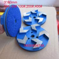 80mm velcro concrete grinding pad 5 diamond segments