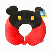 Comfortable! Kawaii Mickey Mouse Minnie Mouse Plush U-neck Pillows For children/adults suitable Plush Pillow Free shipping