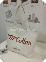 Free Promotion Time-limited Pocket Medium(30-50cm) Shipping 2014 Stripe Eco-friendly Canvas Bag Handbag One Shoulder Shopping