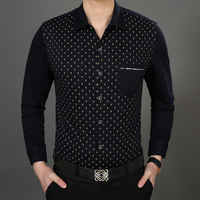 2014 NEW Free shipping men's spring autumn business long sleeve slim fit shirt