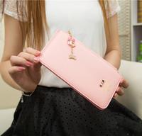 2014 new fashionable Ladies Wallet women scrub zipper multi card 80 percent off card pack mobile phone bag
