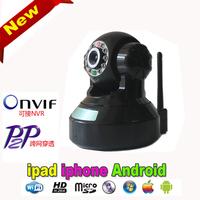 Promotion WiFi IP Camera P2P PZT Black With 32G TF card Alarm Two Way Audio Wireless 1.3MP cctv Video Camera