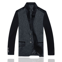 2014 High Quatity Jacket for men coats casual mens thicken woolen fashion jackets coat men's jacket winter men overcoat 1587