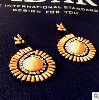 New 2014 Korean Style Fashion Rhinestone Dangle Earrings Water Drop Earrings For Women
