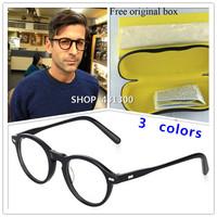 Original johnny depp glasses frame glasses brand eye glasses men retro eyeglasses women quadros vintage clear lens glasses frame