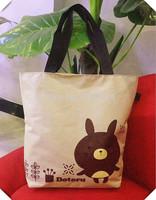 Free shipping 2014 nwe cartoon printing fashion leisure bag canvas bag women's bag