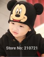 Retail 1 to 5 Years baby Boys Cartoon Mickey caps infants hats caps keep warm hats