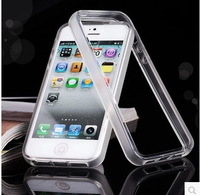 nique simple design Fashionable transparent hard tpu protective frame bumper cheap Case Cover For Iphone 5 5s, free shippin