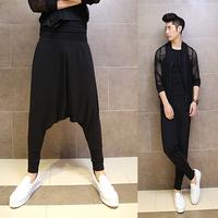 2014 men's personality punk pants fashion harem pants casual novelty pants male