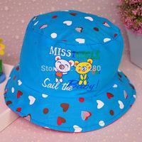 Wholesale children summer outdoor popular fishing hat baby boy and girl fashion princess bucket cap
