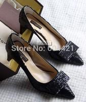 2014 Platform Fashion Women High Square Heels Shoes Pumps 6.5cm Euro Size 34-41 Free Shipping