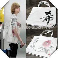 2014Hot-selling sun cat design canvas handbag Women's leisure environmental protection shopping bags free shipping