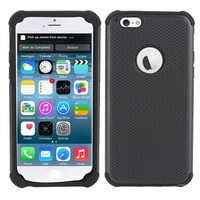 High Quality Heavy Duty Hybrid Rubber Hard Cover Case For Apple  iPhone 6 Drop shipping
