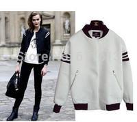 New 2014 Fashion Autumn Winter Jackets Women Casual Long Sleeve Sport Baseball Uniform Jacket Women Coat